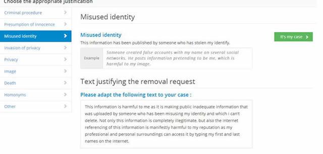 Готовая формулировка запроса на удаление ссылки из Google