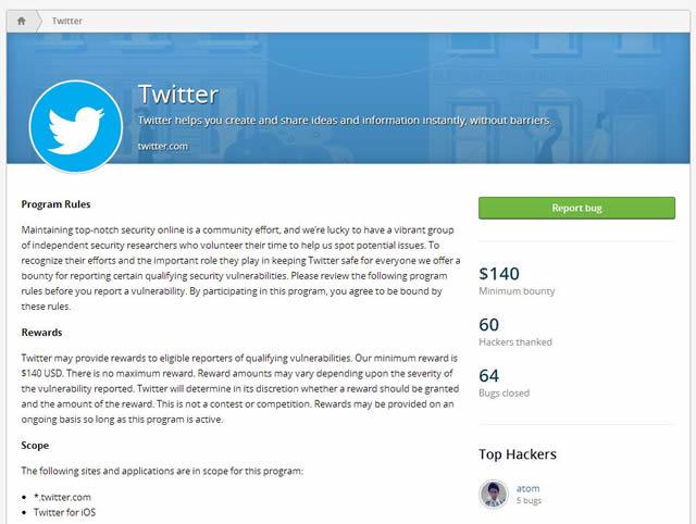 Twitter ищет уязвимости с помощью сообщества HackerOne
