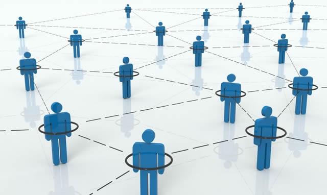 3D человечки объединенные в сеть