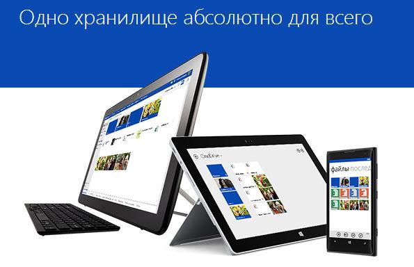 OneDrive: одно онлайн хранилище абсолютно для всего