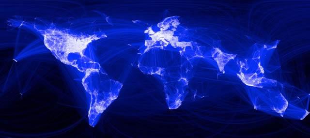 Карта социальных связей в сети Интернет