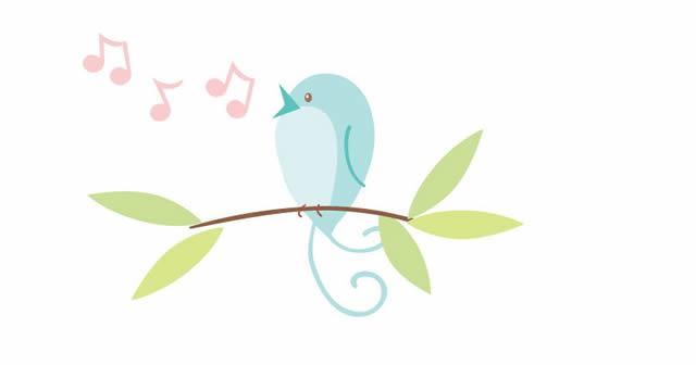 Птичка на ветке, нотки