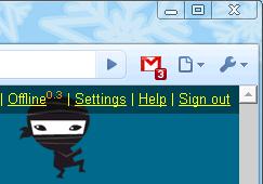 Расширение браузера Google Chrome, сообщающее о новых письмах Gmail