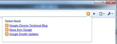 Расширение браузера Google Chrome, позволяющее быстро подписываться на RSS канал