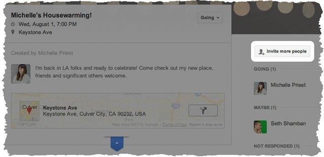 Участие в событии на Google+