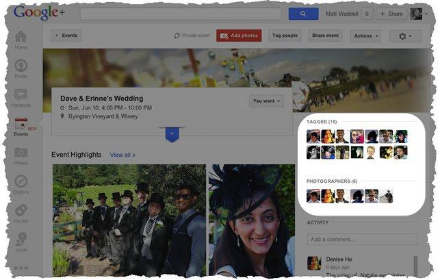 Сортировка коллекции события Google Plus