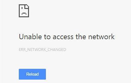 Сообщение об ошибке сетевого подключения Google Chrome
