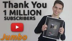 Jumbo показывает лицо после 1000000 подписок
