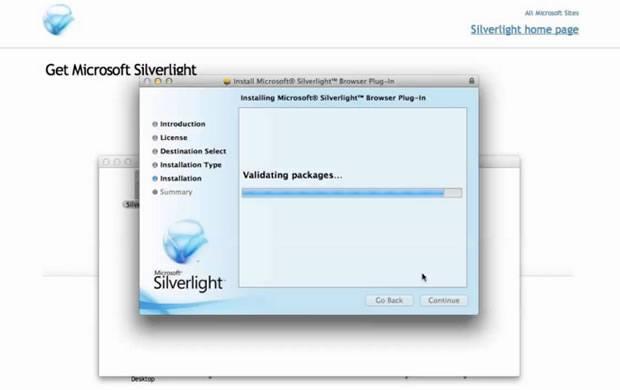 Установка плагина Silverlight для браузера