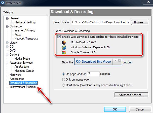Установка плагина RealPlayer для браузера Google Chrome