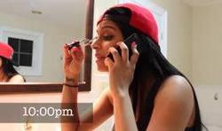 Видео на YouTube о подготовке девушки к выходу на вечеринку