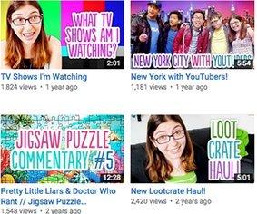 Примеры читемого текста на эскизах видео YouTube