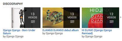 Сортировка видео на YouTube канале Django Django