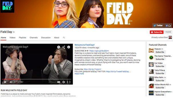 Отображение сотрудничества с другим автором в дизайне канала на YouTube