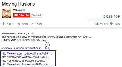 Добавление источников в описании видео на канале YouTube