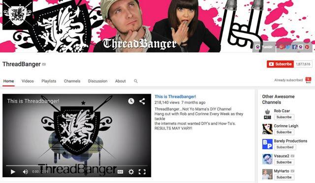 Пример видео канала готового к сотрудничеству с другими авторами YouTube