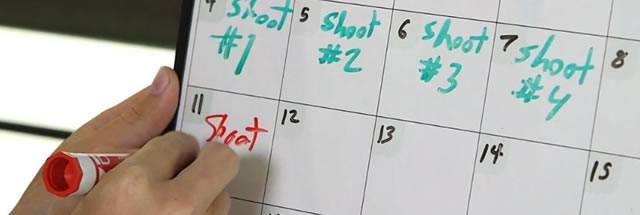 Планирование процесса съемки видео по датам