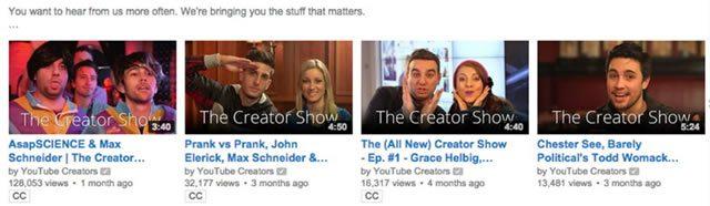 Пример объединения видео на YouTube в плейлисты