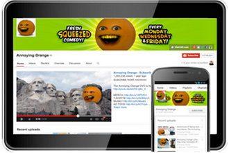 Отображение страницы видео канала YouTube на различных устройствах