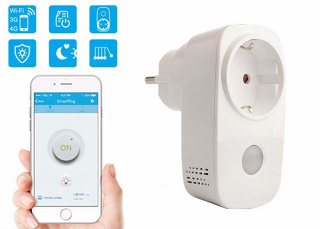 Управление умной розеткой Smart Plug с помощью приложения на смартфоне