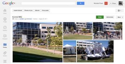 Альбом фотографий в Google Plus