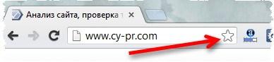 Кнопка для создания закладки в google chrome