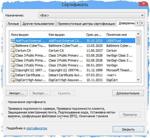Управление сертификатами и протоколами SSL в браузере Google Chrome