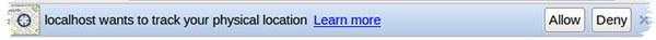 Запрос на получение данных о местоположении браузера Chrome