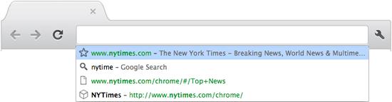 Универсальное окно поиска браузера Chrome