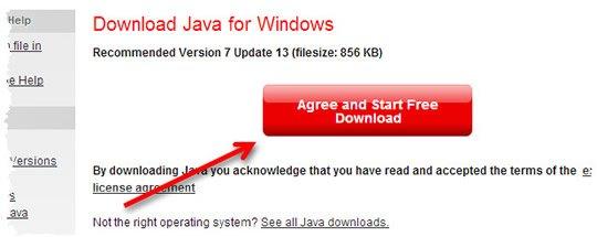Страница загрузки платформы Java для Chrome