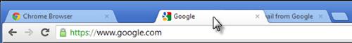 Перетаскивание вкладки в браузере Google Chrome