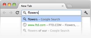 Универсальное окно поиска Google Chrome