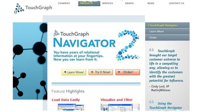 Touchgraph – мультипоисковая система