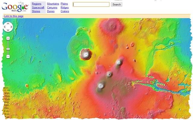 Google Mars: подробная карта планеты Марс