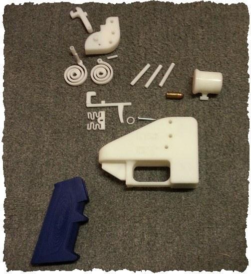 Пистолет 3D Liberator: комплектующие