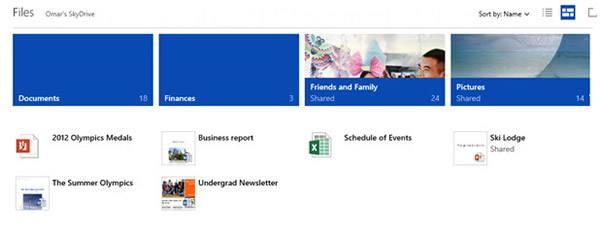 Миниатюры и каталоги на SkyDrive