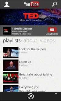 Приложение YouTube вновь доступно для Windows Phone