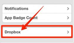 Подключаем Dropbox к Mailbox