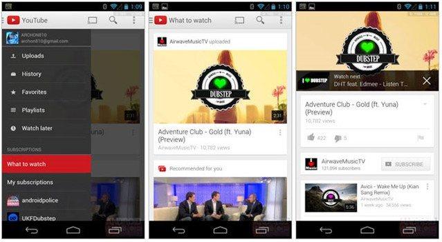 Новое приложение для YouTube от Google