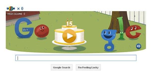 Doodle в честь 15 лет Google