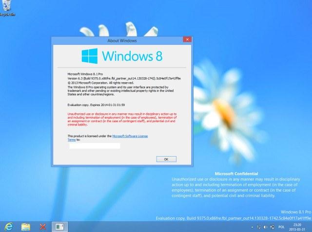 Рабочий столь Windows Blue