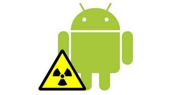 Предупреждение об опасности системы Android