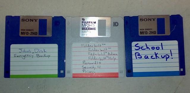 Резервные копии данных на гибких дисках
