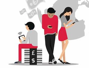 Молодые люди активно используют мобильные устройства для платежей