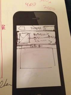 Первые наброски интерфейса Instagram
