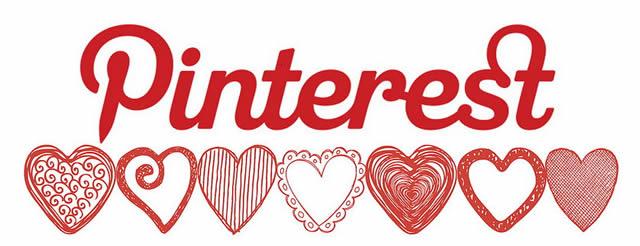 Логотип Pinterest с сердечками