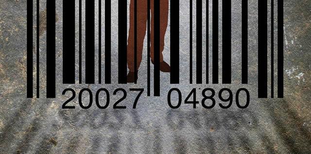 Штрих код в форме тюремной решетки