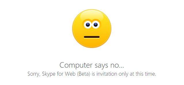 Skype for Web пока что не для Всех