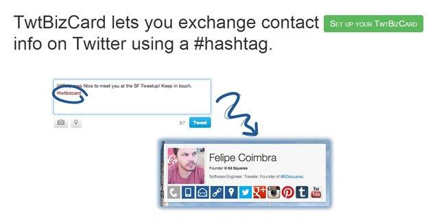 Социальная визитная карточка на TwitBizCard