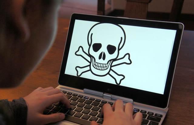 Ноутбук заблокированный кибер преступниками
